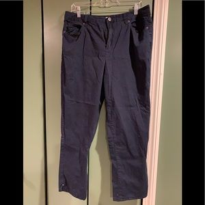 Talbots navy casual cotton pant